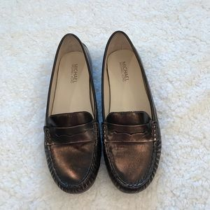 Michael Kors Daisy loafer bronze metallic
